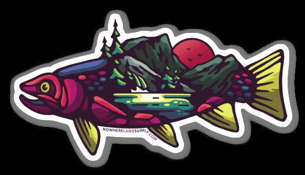 Fish Landscape sticker