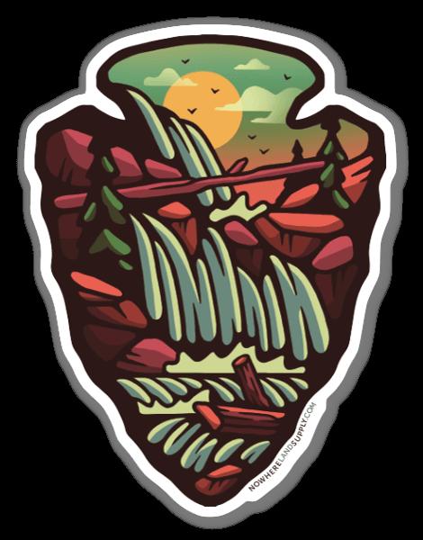 Arrowhead Waterfall sticker