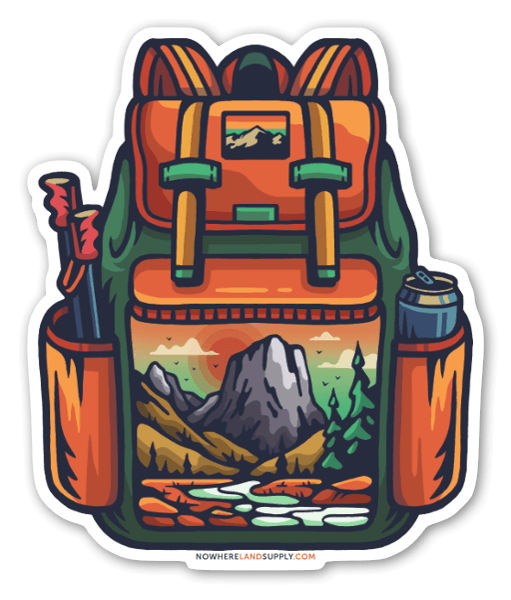 Backpack Outdoors sticker