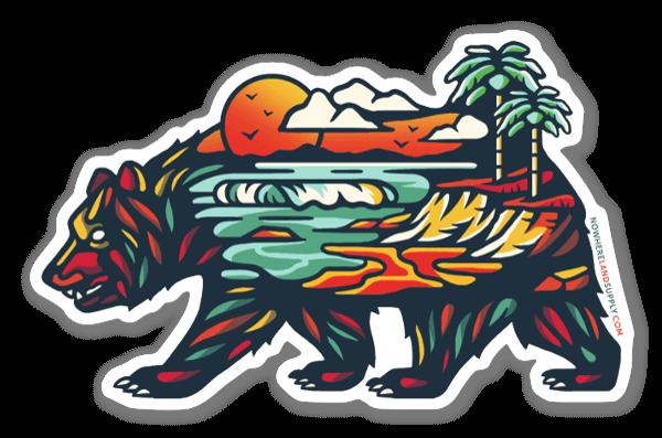 Bear Beach sticker