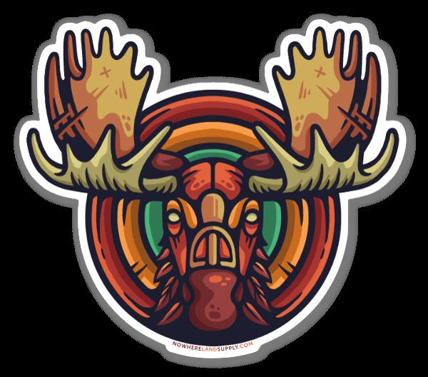 Moose Headstrong sticker