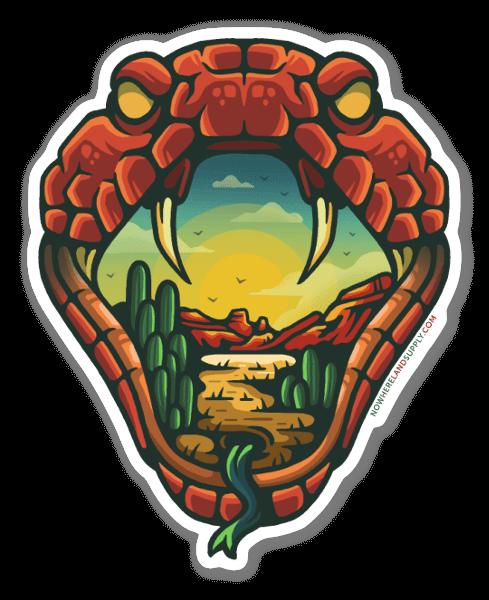 Snake Outdoors sticker