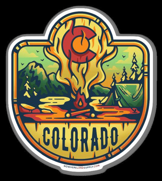 コロラド州のキャンプファイヤー ステッカー