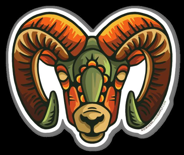 Ram Headstrong sticker