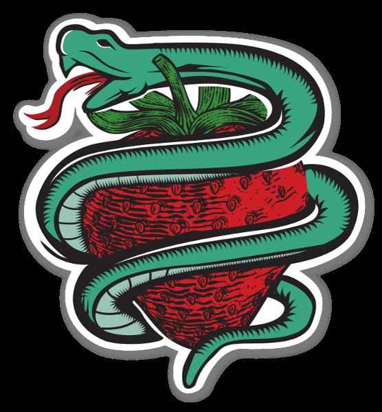 蛇と苺 ステッカー