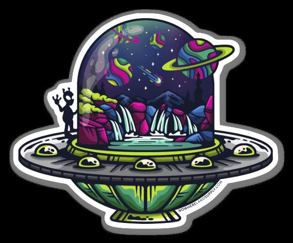 UFO Outdoors sticker