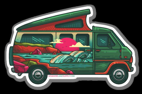 Camper Van Beach sticker