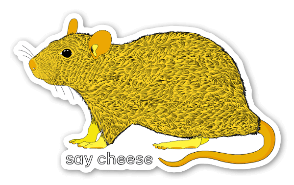 Yellow Mouse sticker