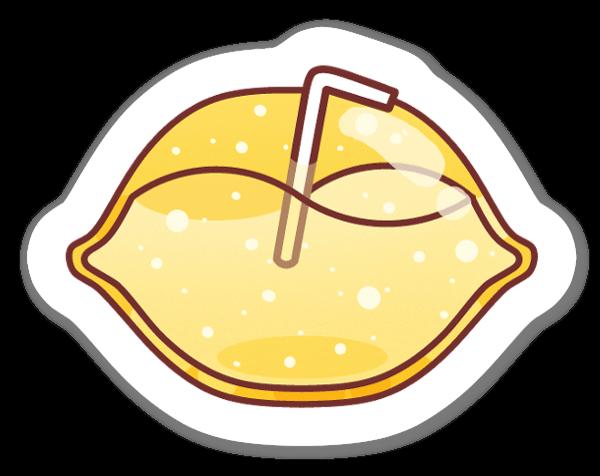 Cute Cartoon Lemon sticker