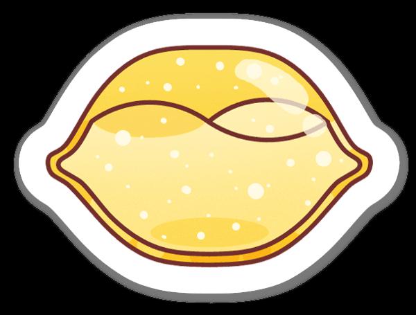 Cytrynka naklejka