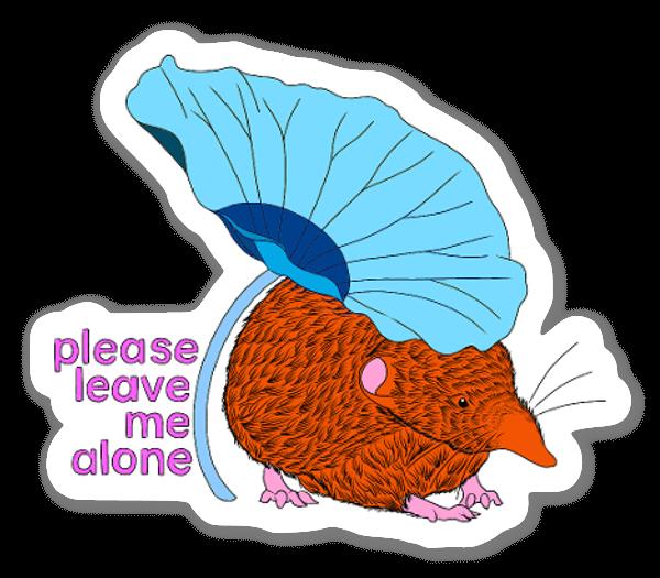 please leave me alone sticker