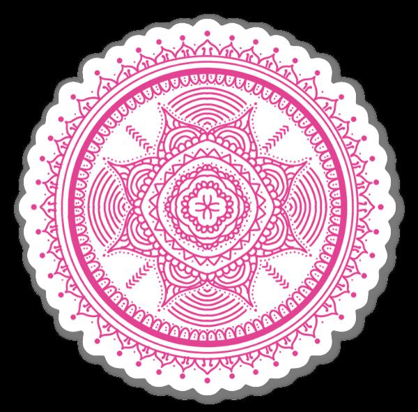 Pink Mandala sticker
