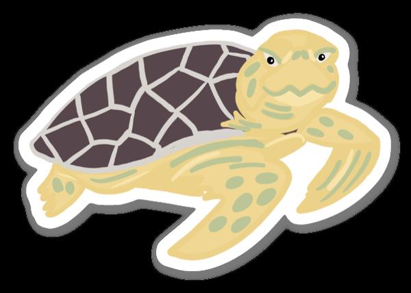 Oäkta Karettsköldpadda sticker
