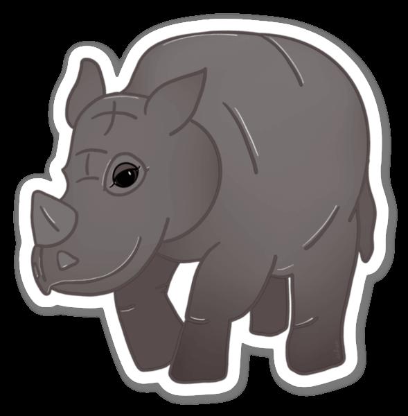 Chubby Unicorn - One Horned Rhino sticker