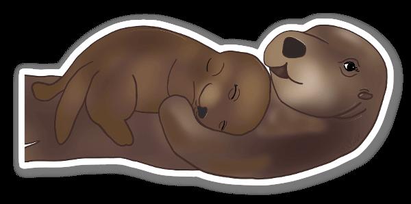 Otter Love sticker
