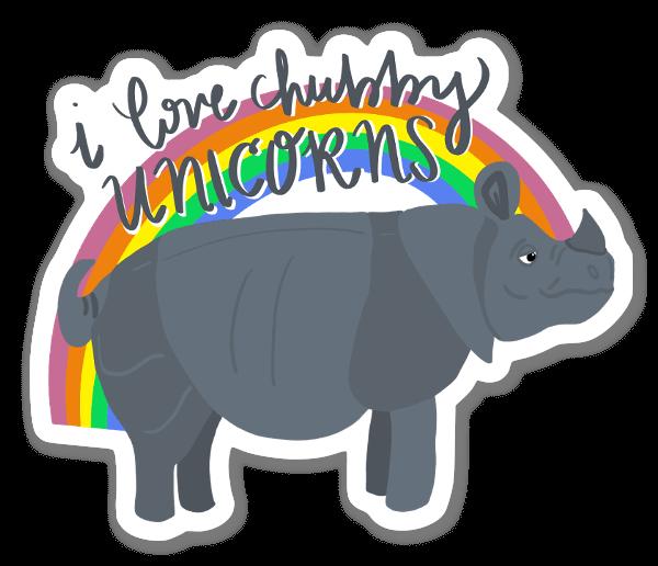 Love Chubby Unicorns sticker