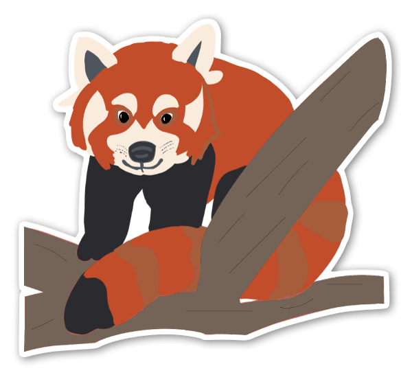 Red Panda in the Trees sticker