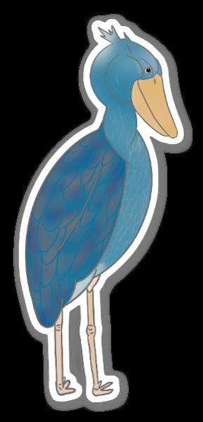 Uccello dal becco a scarpa sticker
