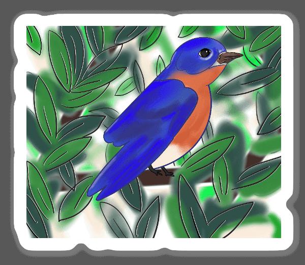 Pájaro pegatina