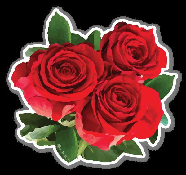 Floral Roses sticker