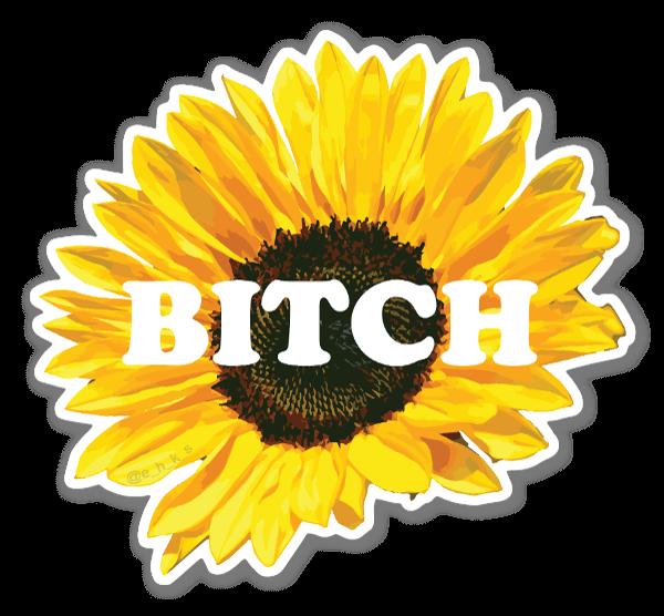 Floral Bitch sticker