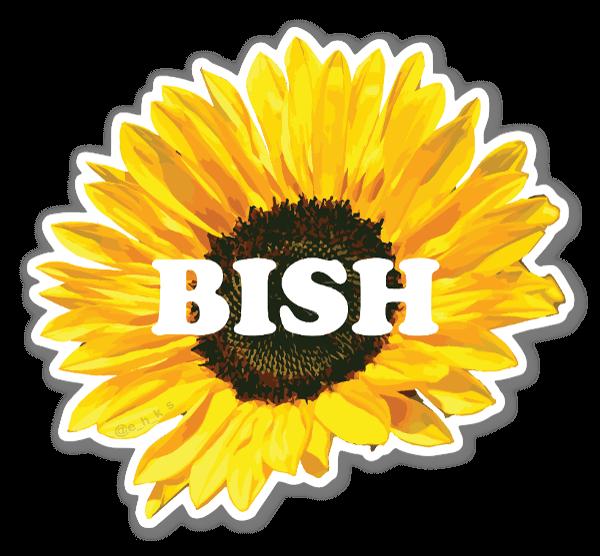 Floral Bish sticker