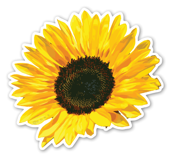 Floral Sunflower sticker