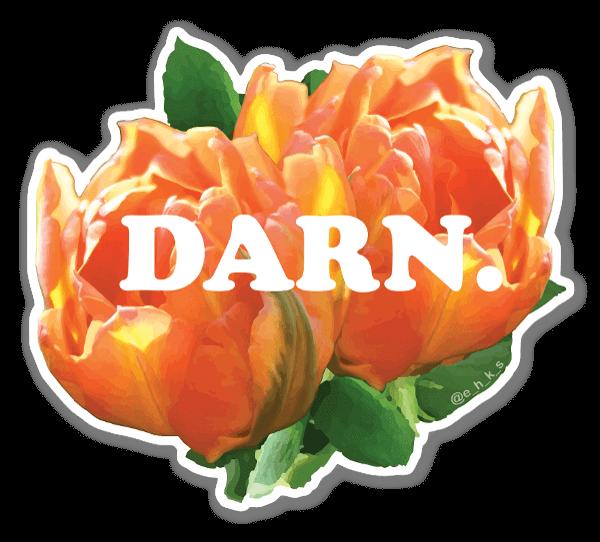 Floral Darn sticker