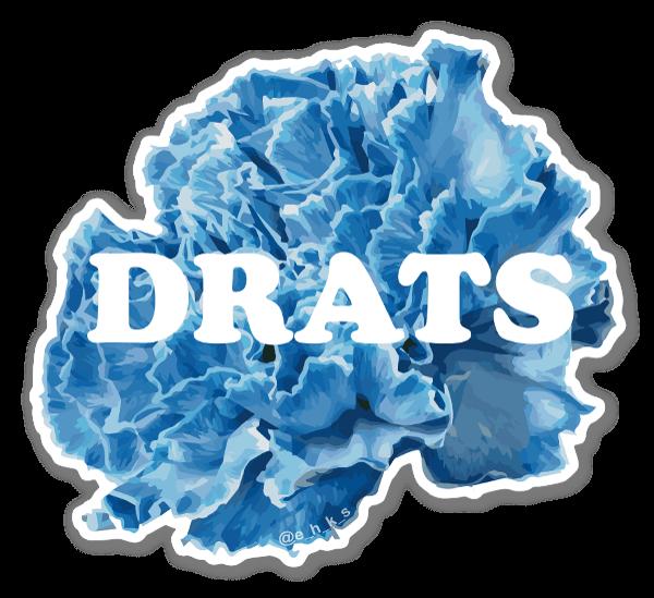 Floral Drats sticker