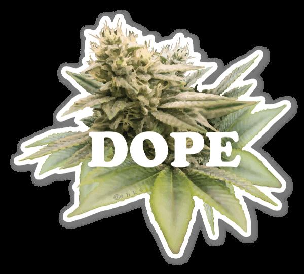 Floral Dope sticker
