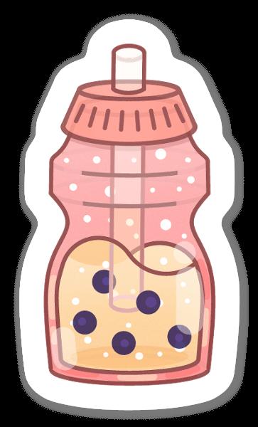 Bebida pegatina