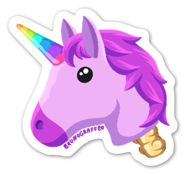 Testa di unicorno sticker