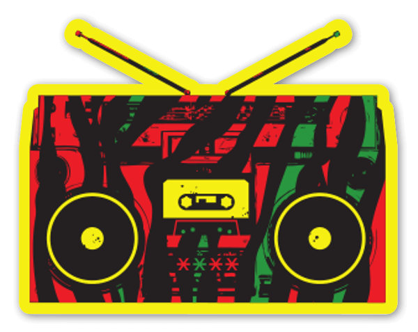 Stereo Called Quest sticker