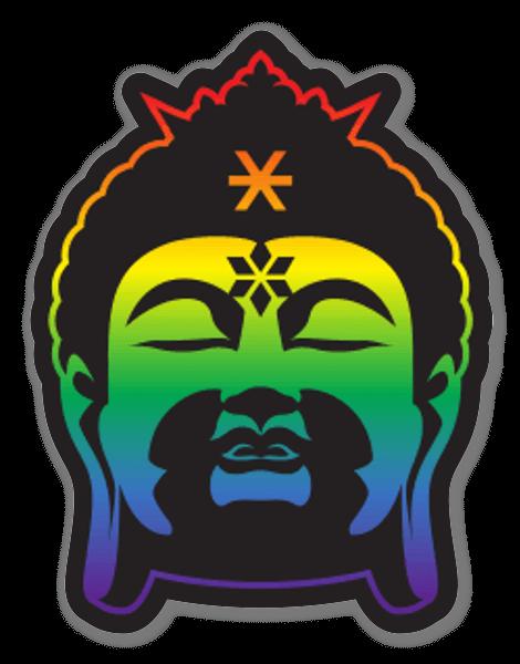 Arcobaleno Buddha sticker