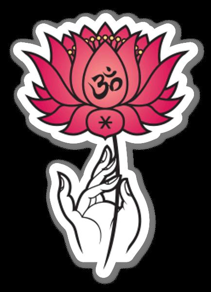 Om Lotus sticker