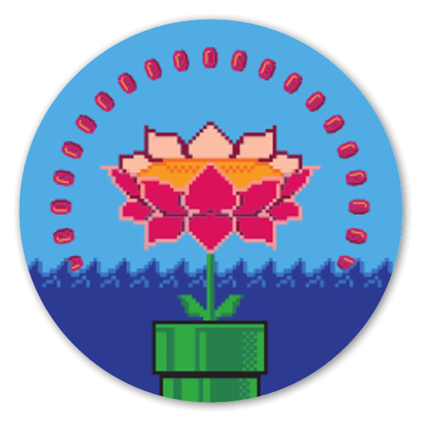 Digital Lotus sticker