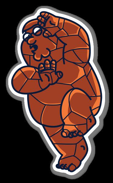 La Cosa-Peter sticker