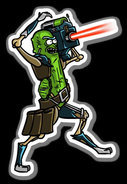 Lazer Rick sticker