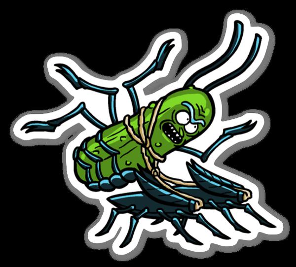 Roach Rick sticker