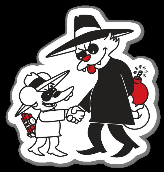 Gatto vs Topo sticker