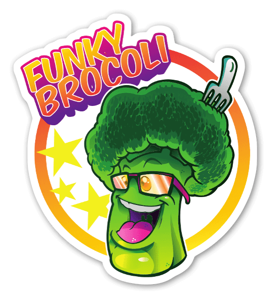 funky brocoli sticker