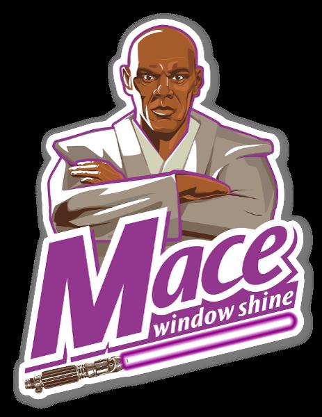 Mace Window Shine sticker