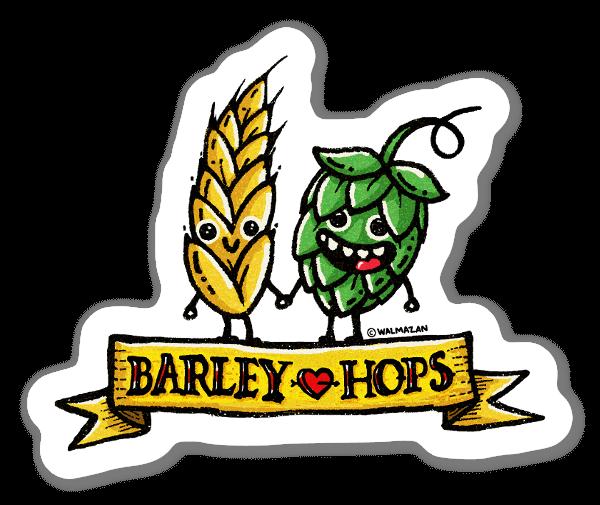 Barley love Hopes sticker
