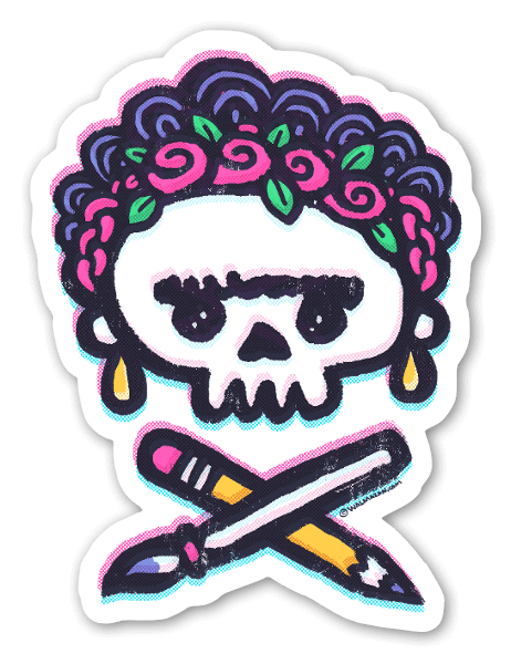 Frida Kahlo Bones sticker