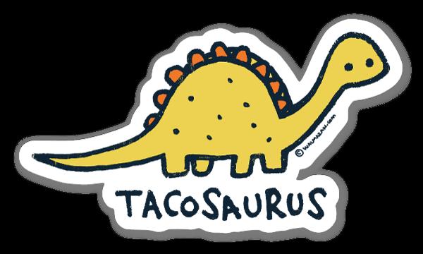Tacosaurus sticker