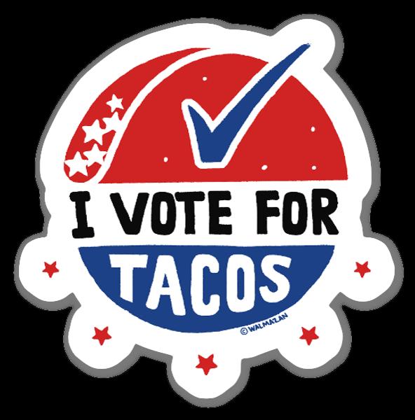 Vote for Tacos naklejka