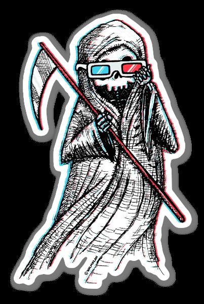 3-Death  sticker