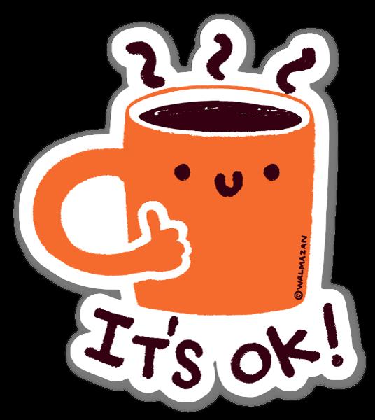 Cafédência sticker