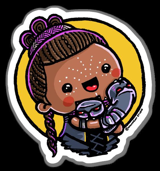 Girl Power - Shuri sticker