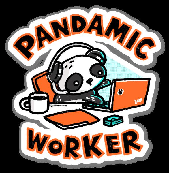 Pandamic Worker sticker